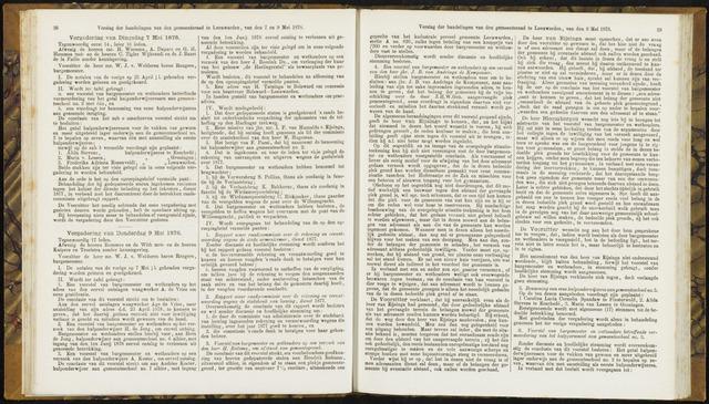 Raadsverslagen van de gemeente Leeuwarden, 1865-2007 (Notulen) 1878-05-07