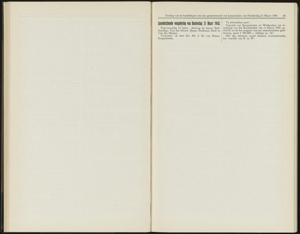Raadsverslagen van de gemeente Leeuwarden, 1865-2007 (Notulen) 1940-03-21