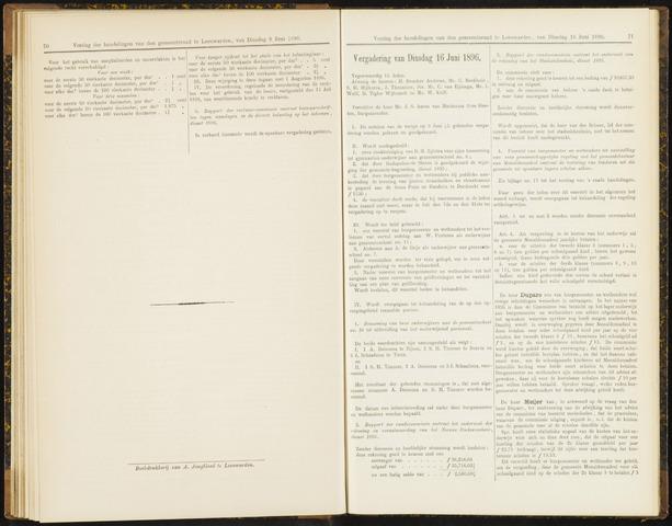 Raadsverslagen van de gemeente Leeuwarden, 1865-2007 (Notulen) 1896-06-16