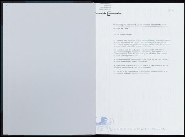Raadsverslagen van de gemeente Leeuwarden, 1865-2007 (Bijlagen) 2000-01-01