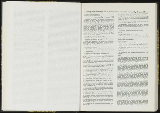 Raadsverslagen van de gemeente Leeuwarden, 1865-2007 (Notulen) 1975-03-10