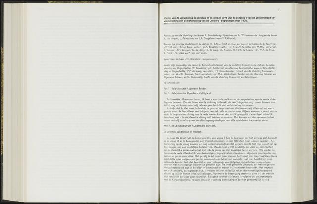 Raadsverslagen van de gemeente Leeuwarden, 1865-2007 (Notulen) 1975-11-11