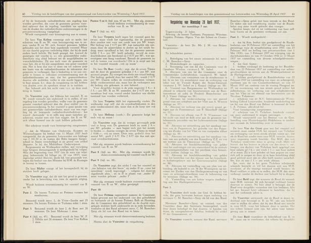 Raadsverslagen van de gemeente Leeuwarden, 1865-2007 (Notulen) 1937-04-28