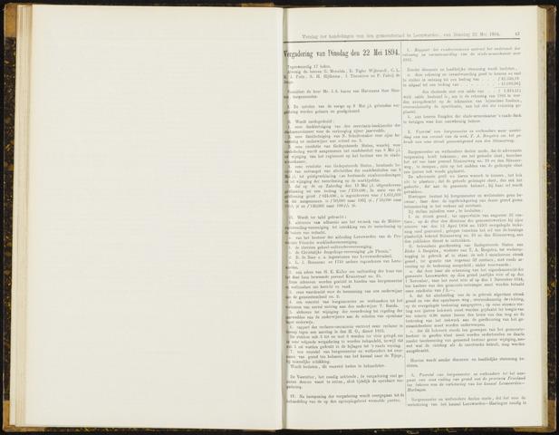 Raadsverslagen van de gemeente Leeuwarden, 1865-2007 (Notulen) 1894-05-22