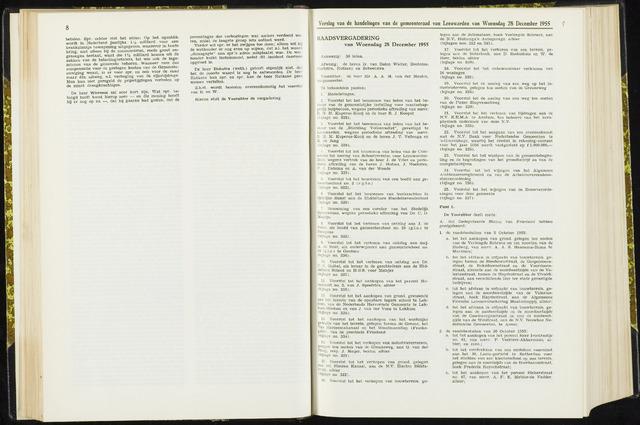 Raadsverslagen van de gemeente Leeuwarden, 1865-2007 (Notulen) 1955-12-28