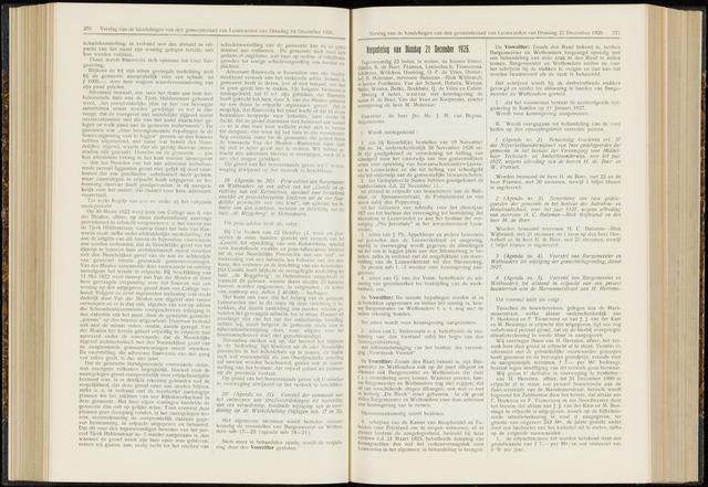 Raadsverslagen van de gemeente Leeuwarden, 1865-2007 (Notulen) 1926-12-21