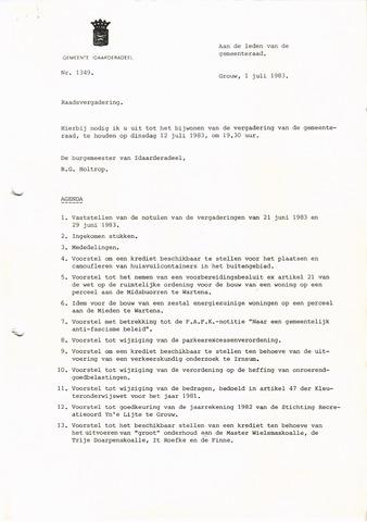 raadsverslagen Idaarderadeel 1935-1983 1983-07-12