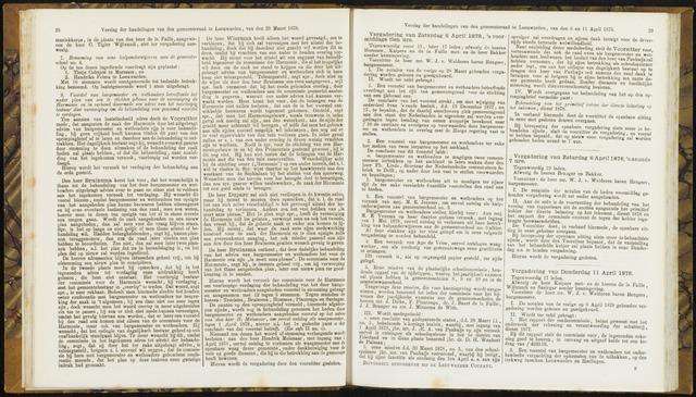 Raadsverslagen van de gemeente Leeuwarden, 1865-2007 (Notulen) 1878-04-06