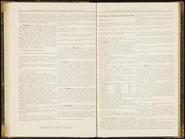 Raadsverslagen van de gemeente Leeuwarden, 1865-2007 (Notulen) 1887-12-13