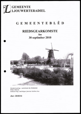 Notulen van de gemeenteraad van Leeuwarderadeel 2010-09-30