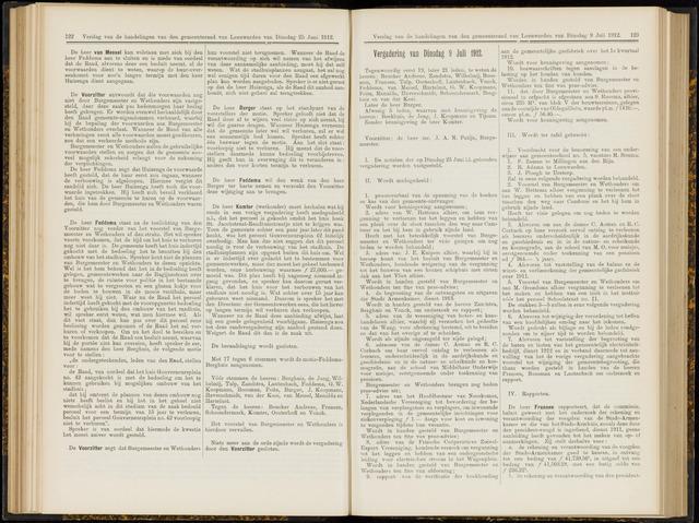 Raadsverslagen van de gemeente Leeuwarden, 1865-2007 (Notulen) 1912-07-09