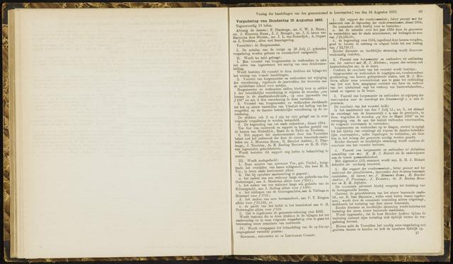 Raadsverslagen van de gemeente Leeuwarden, 1865-2007 (Notulen) 1883-08-16