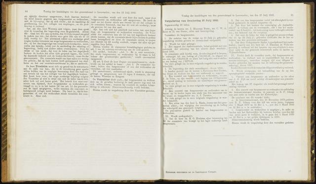 Raadsverslagen van de gemeente Leeuwarden, 1865-2007 (Notulen) 1882-07-27