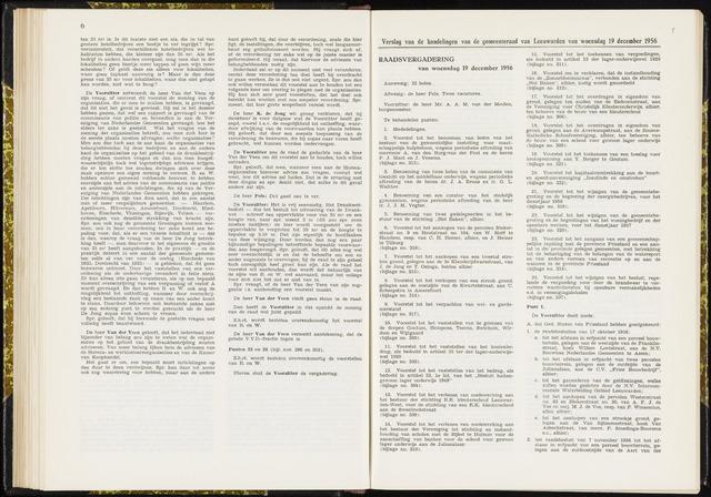 Raadsverslagen van de gemeente Leeuwarden, 1865-2007 (Notulen) 1956-12-19