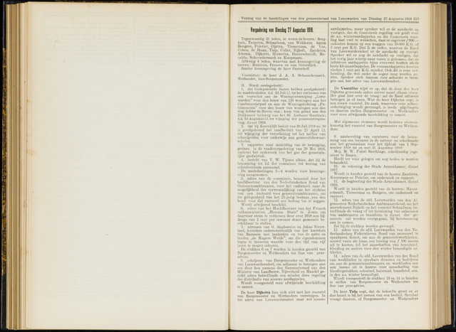 Raadsverslagen van de gemeente Leeuwarden, 1865-2007 (Notulen) 1918-08-27