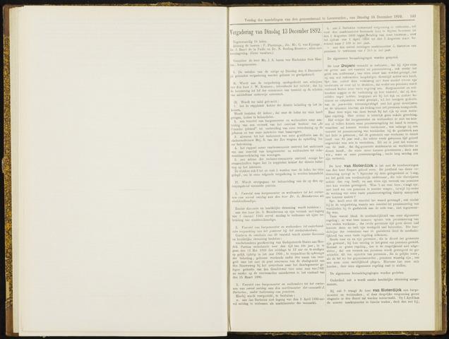 Raadsverslagen van de gemeente Leeuwarden, 1865-2007 (Notulen) 1892-12-13