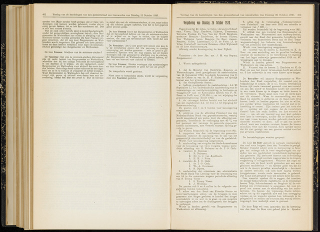Raadsverslagen van de gemeente Leeuwarden, 1865-2007 (Notulen) 1920-10-26
