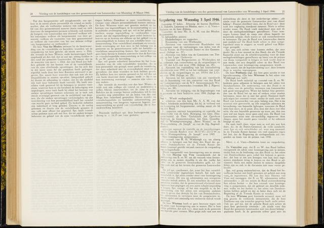Raadsverslagen van de gemeente Leeuwarden, 1865-2007 (Notulen) 1946-04-03