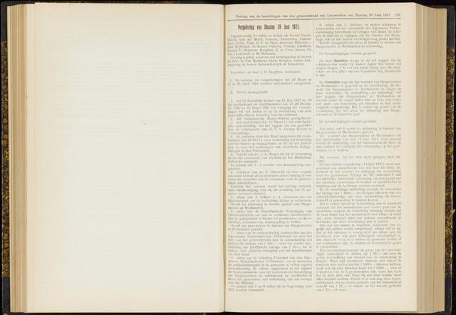 Raadsverslagen van de gemeente Leeuwarden, 1865-2007 (Notulen) 1921-06-28