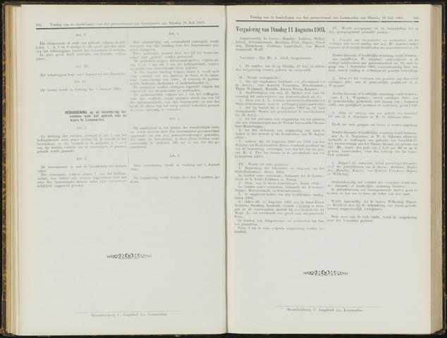 Raadsverslagen van de gemeente Leeuwarden, 1865-2007 (Notulen) 1903-08-11