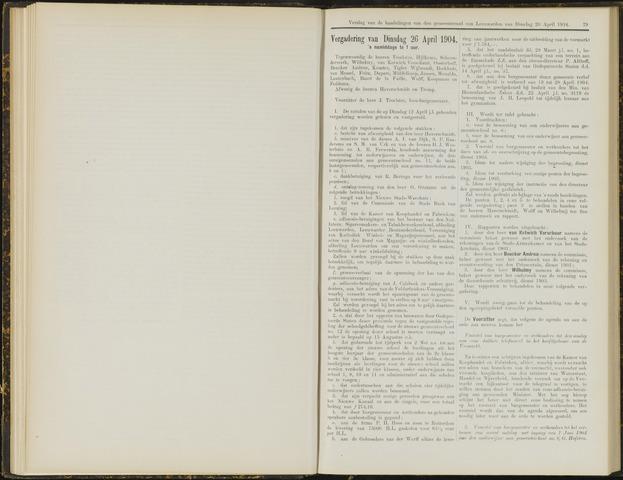 Raadsverslagen van de gemeente Leeuwarden, 1865-2007 (Notulen) 1904-04-26