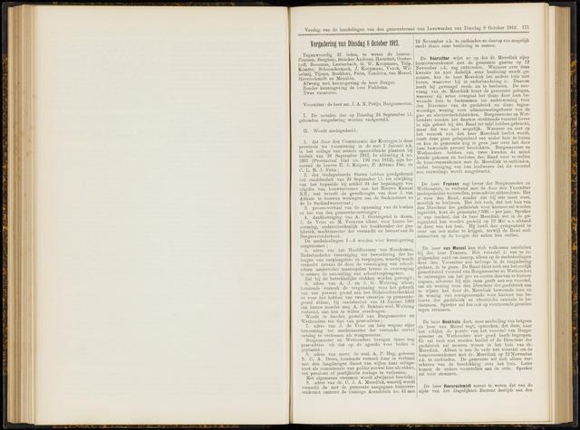 Raadsverslagen van de gemeente Leeuwarden, 1865-2007 (Notulen) 1912-10-08