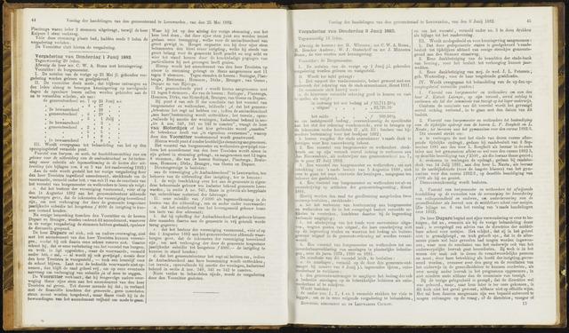 Raadsverslagen van de gemeente Leeuwarden, 1865-2007 (Notulen) 1882-06-08