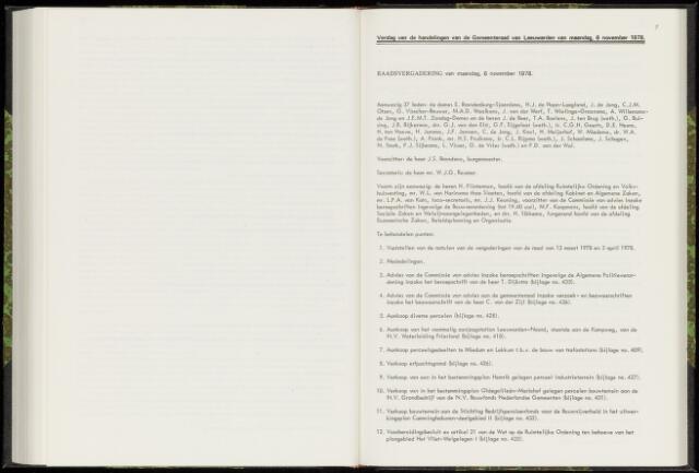 Raadsverslagen van de gemeente Leeuwarden, 1865-2007 (Notulen) 1978-11-06