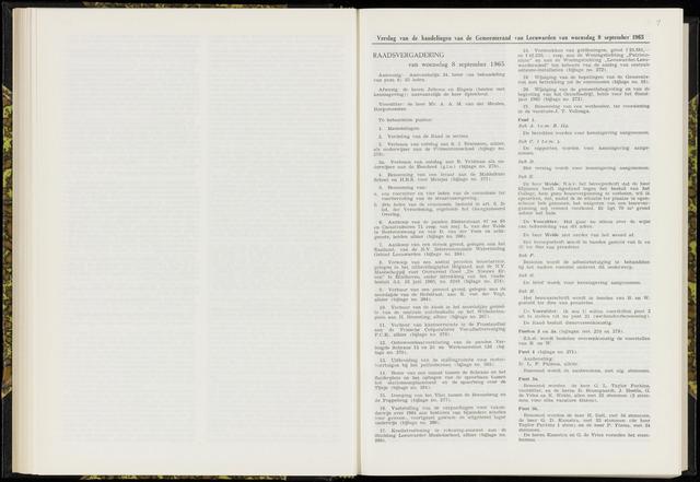 Raadsverslagen van de gemeente Leeuwarden, 1865-2007 (Notulen) 1965-09-08