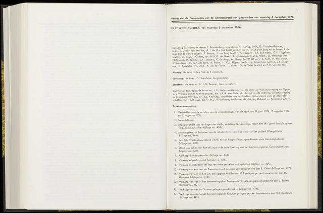 Raadsverslagen van de gemeente Leeuwarden, 1865-2007 (Notulen) 1976-12-06