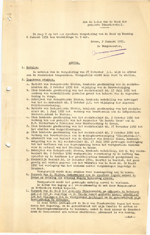 raadsverslagen Idaarderadeel 1935-1983 1951