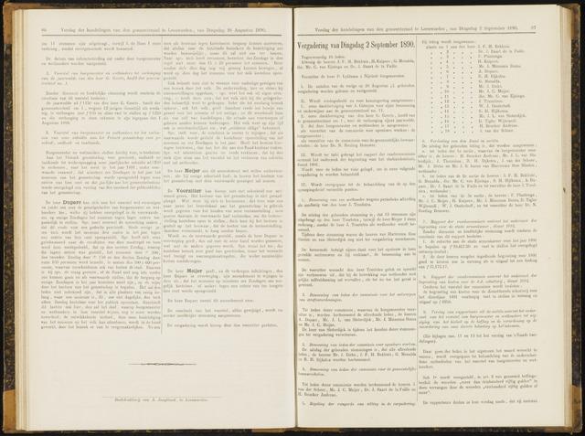 Raadsverslagen van de gemeente Leeuwarden, 1865-2007 (Notulen) 1890-09-02