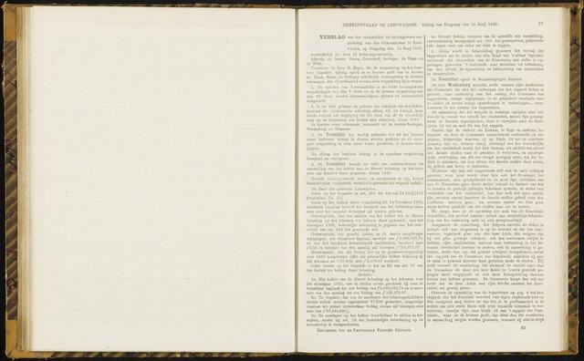 Raadsverslagen van de gemeente Leeuwarden, 1865-2007 (Notulen) 1869-06-15