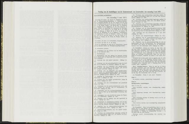 Raadsverslagen van de gemeente Leeuwarden, 1865-2007 (Notulen) 1971-05-03