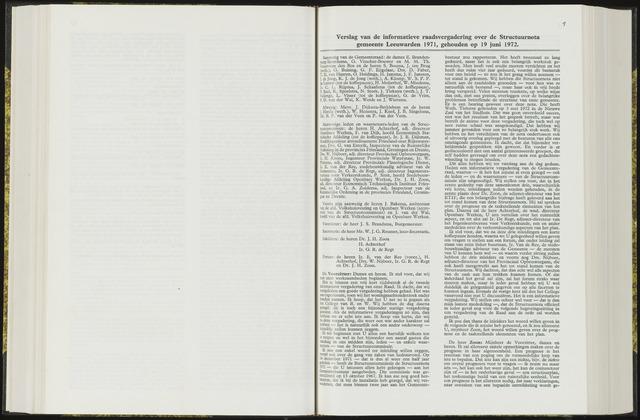 Raadsverslagen van de gemeente Leeuwarden, 1865-2007 (Notulen) 1972-06-19