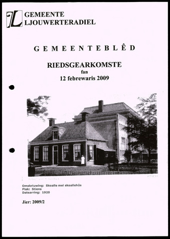 Notulen van de gemeenteraad van Leeuwarderadeel 2009-02-12