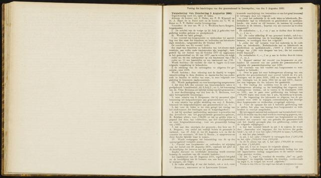 Raadsverslagen van de gemeente Leeuwarden, 1865-2007 (Notulen) 1880-08-05