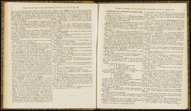 Raadsverslagen van de gemeente Leeuwarden, 1865-2007 (Notulen) 1881-08-11
