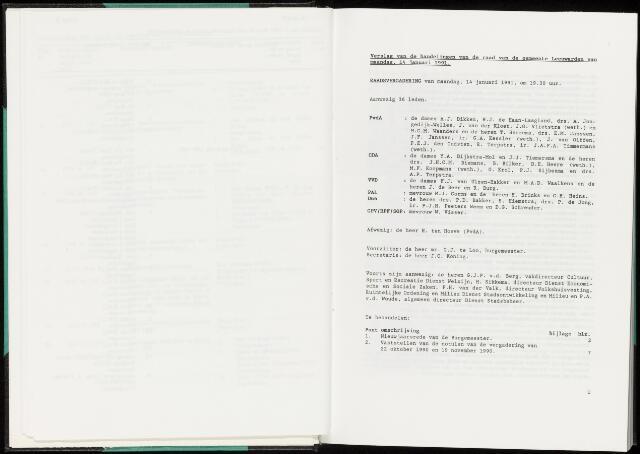 Raadsverslagen van de gemeente Leeuwarden, 1865-2007 (Notulen) 1991