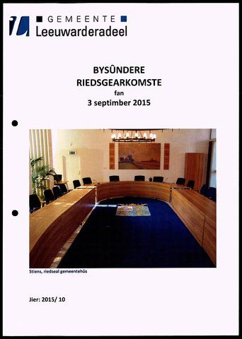 Notulen van de gemeenteraad van Leeuwarderadeel 2015-09-03