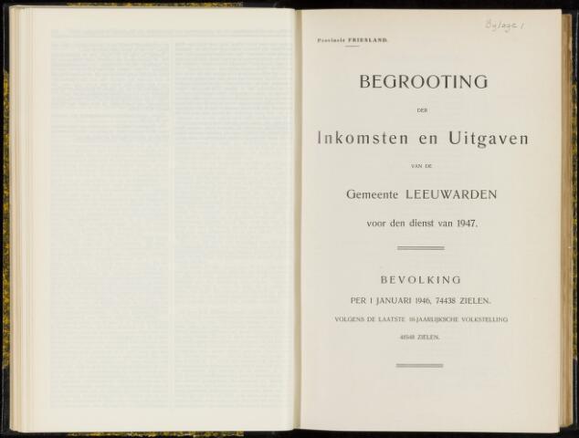 Raadsverslagen van de gemeente Leeuwarden, 1865-2007 (Bijlagen) 1947-01-01