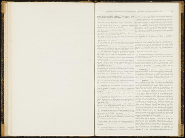 Raadsverslagen van de gemeente Leeuwarden, 1865-2007 (Notulen) 1888-12-27