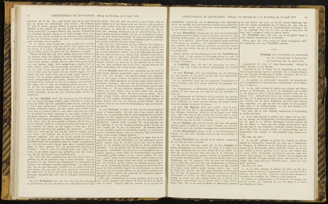 Raadsverslagen van de gemeente Leeuwarden, 1865-2007 (Notulen) 1870-04-14