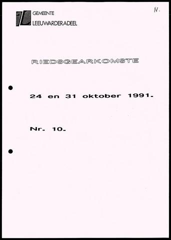 Notulen van de gemeenteraad van Leeuwarderadeel 1991-10-24