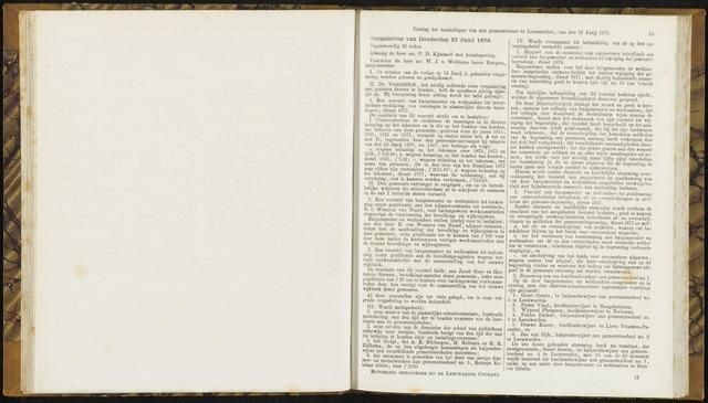 Raadsverslagen van de gemeente Leeuwarden, 1865-2007 (Notulen) 1878-06-27