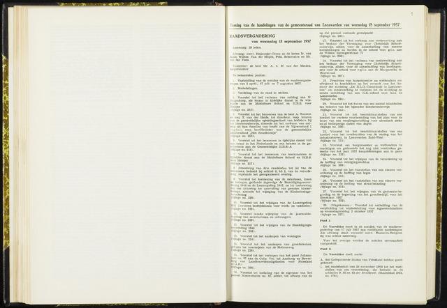 Raadsverslagen van de gemeente Leeuwarden, 1865-2007 (Notulen) 1957-09-18