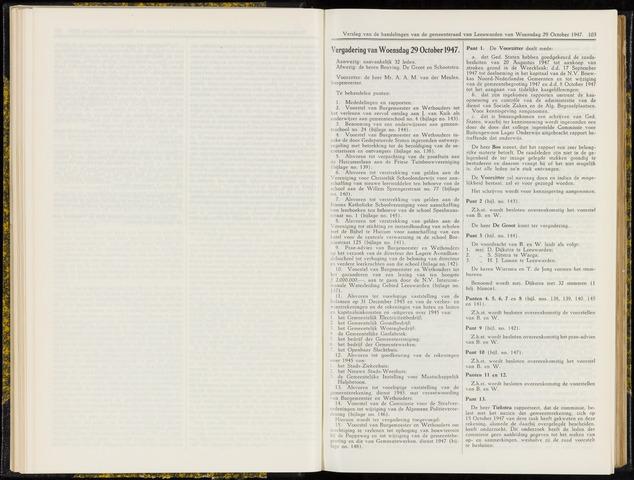 Raadsverslagen van de gemeente Leeuwarden, 1865-2007 (Notulen) 1947-10-29