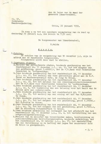 raadsverslagen Idaarderadeel 1935-1983 1959