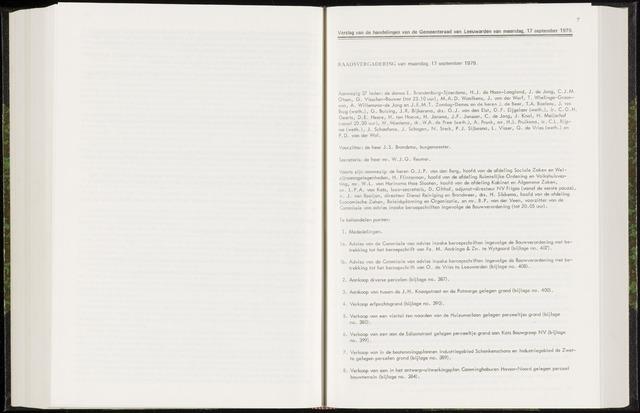 Raadsverslagen van de gemeente Leeuwarden, 1865-2007 (Notulen) 1979-09-17