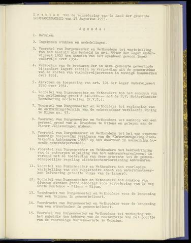 Notulen van de gemeenteraad van Leeuwarderadeel 1955-08-17